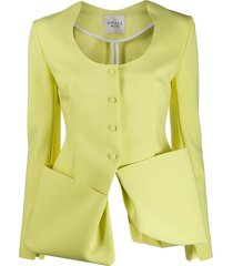 a.w.a.k.e. mode long sleeve deconstructed jacket - yellow