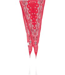 acne studios skinny diamond-shaped bandana - red