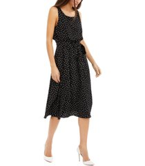inc polka-dot blouson dress, created for macy's