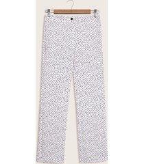 pantalon estampado blanco 10