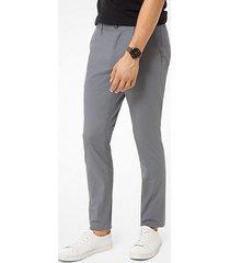 mk pantalone chino skinny in cotone stretch - tempesta (grigio) - michael kors