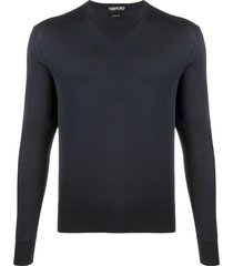 tom ford scoop-neck sweater - blue