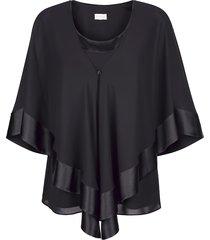 blus & linne mona svart