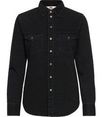 de-ringy shirt overhemd met lange mouwen zwart diesel women