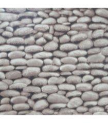 kit 2 rolos de papel de parede fwb lavã¡vel 3d pedra natural rustico - cinza - dafiti