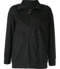 alala mesh insert performance sweatshirt - black
