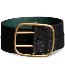 leather double belt