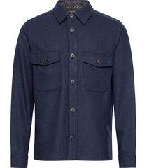 wool shirt jacket skjorta casual blå calvin klein