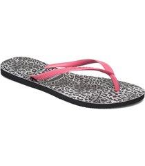 slim leopard shoes summer shoes flip flops rosa havaianas