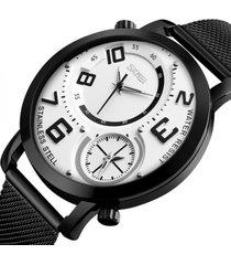reloj hombre skmei 9168 blanco deportivo