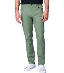 men's blanknyc the wooster slim fit twill five pocket pants, size 34 - green