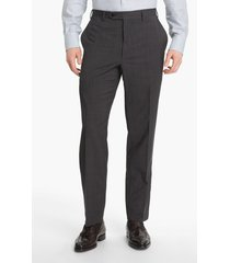 men's canali flat front wool trousers