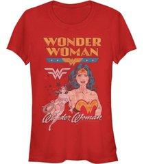 fifth sun dc wonder woman retro logos women's short sleeve t-shirt