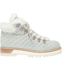 'st. moritz' quilted high-top sneakers