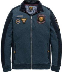 zip jacket structure terry orion blue