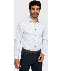 camisa casual spandex floreada blanco arrow