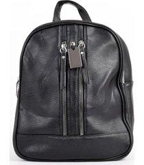 mochila 2 cierres verticales negro mailea