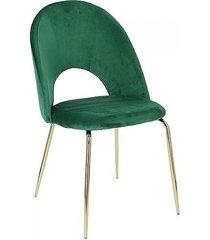 krzesło welwetowe mialove zielone