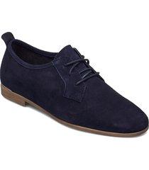 woms lace-up snörade skor låga blå tamaris