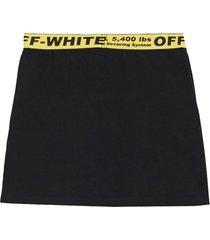 off-white black skirt for girl with logos