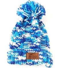 gorro de lana camuflaje azul/blanco niba