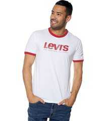 camiseta blanco-rojo levis