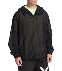 swim quarter-zip hooded pullover jacket