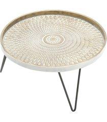 bandeja redonda, centro de mesa redondo com pé - metal - carisma