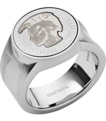 diesel men's mohican head stainless steel signet ring