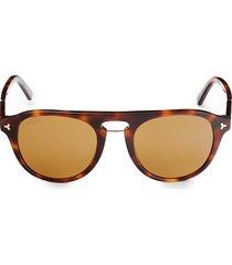bally women's 52mm round sunglasses - havana
