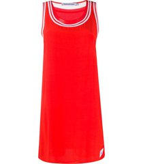 calvin klein jeans contrast border tank dress - red