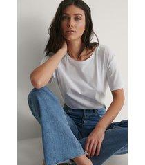 na-kd basic basic oversize t-shirt - white