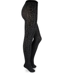 wolford women's blotched snake tights - shark grey - size s
