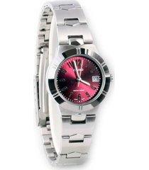 reloj casio ltp-1241 vinotinto para dama