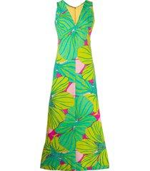 a.n.g.e.l.o. vintage cult 1960's floral print dress - green