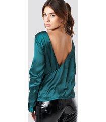 rut&circle back wrap blouse - green