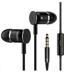 audífonos estereo con microfono 3.5mm negro
