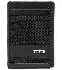 tumi men's alpha slg money clip card case
