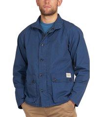 men's barbour browden jacket, size large - blue
