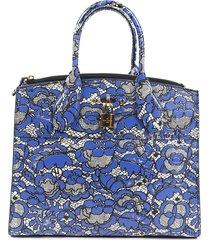 louis vuitton city steamer mm floral lace satchel bag