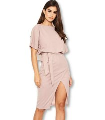 ax paris women's tie waist midi dress