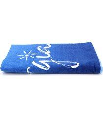 toalha de praia karsten vibrações 76x150cm azul - tricae