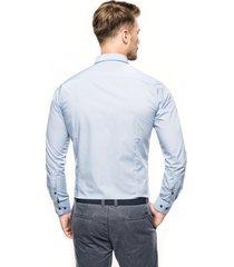 koszula bexley 2627 długi rękaw slim fit niebieski