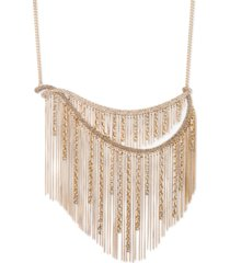 """givenchy gold-tone crystal & chain fringe statement necklace, 16"""" + 3"""" extender"""
