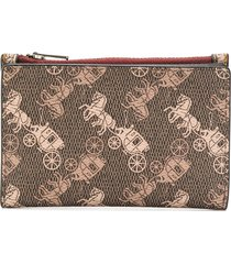 coach all-over print wallet - brown
