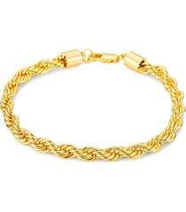 eye candy la men's aiden titanium rope bracelet