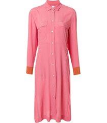 paul smith mid-length shirt dress - pink