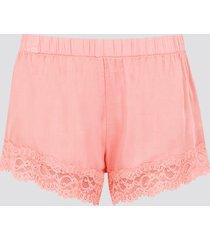 pyjamasshorts i viskos - rosa