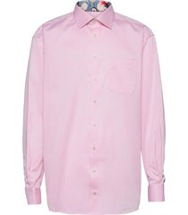 classic fit business signature twill shirt overhemd business roze eton