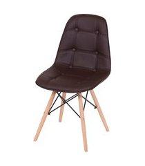 cadeira eames eifeel botone or design marrom